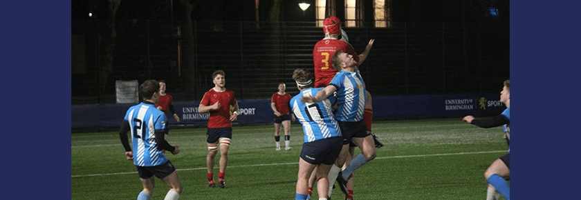 UoB rugby team playing on 3G pitch