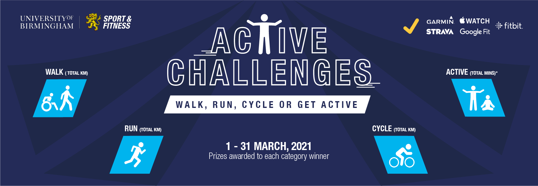 Get moving this March with our active challenges!