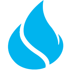 Blue icon: flame